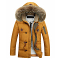 Men down jacket Thicker coat in the long section Male middle-aged models  Comfortable thick coat 160yw