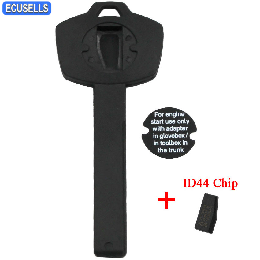US $4 71 14% OFF|New Replacement Emergency Wallet Chip Car Key for BMW X5  X6 E90 E92 E93 E60 Valet Plastic Transponder Immobilizer with ID44 Chip-in