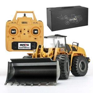 Image 5 - RBR/C HUINA 583 excavadora eléctrica de control remoto, vehículo de construcción en miniatura de aleación, tornillo de juguete