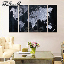 FULLCANG 5pcs diamond painting abstract world map mosaic cross stitch diy 5d diamond embroidery kits full square drill G521 fullcang beauty full square diamond embroidery 5pcs diy diamond painting cross stitch mosaic kits g591