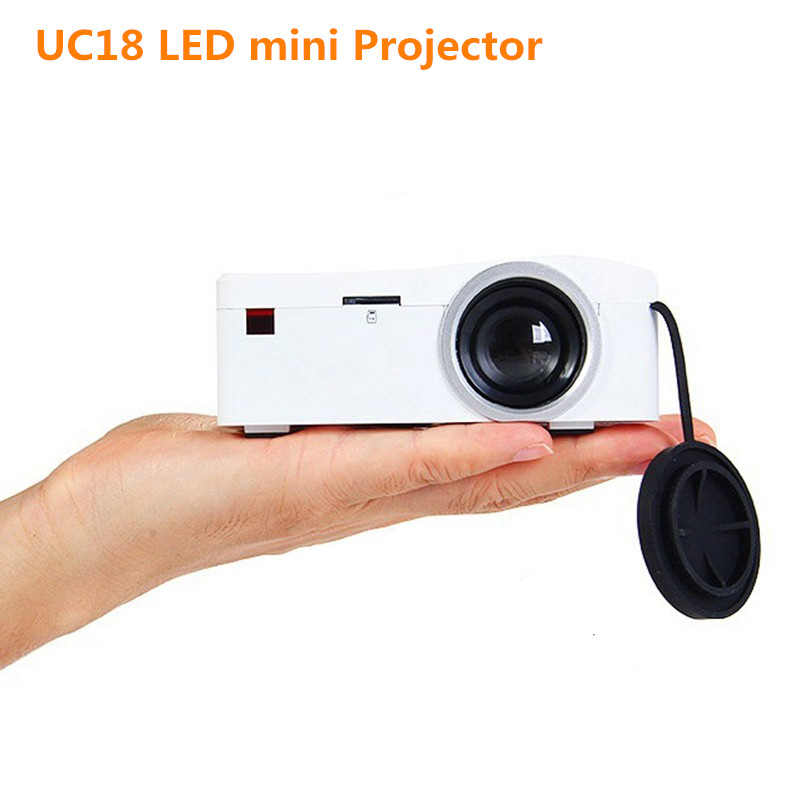Led projector unic uc18 mini projector portable proyector for Micro hdmi projector