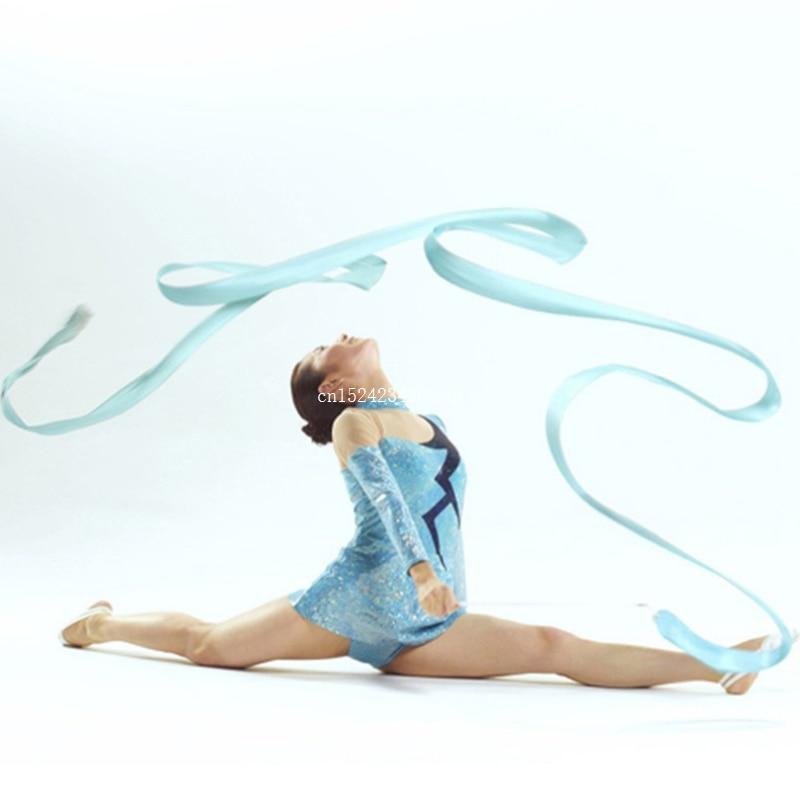 Art Sports Gymnastic Dance Ribbon Twirling Rod Wand Training Equipment Tools G3