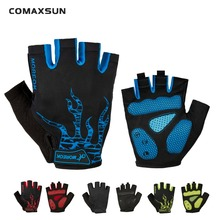 Cycling Gloves Half Finger Bike Gloves Shockproof Breathable MTB Mountain Bicycle Gloves Men Sports Cycling Clothings цена