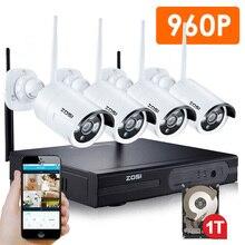 ZOSI HDMI NVR 4CH 960 P 4 ШТ. 1.3 мп ИК Открытый Всепогодный P2P Беспроводная IP CCTV Камеры Безопасности Системы Видеонаблюдения Kit 1 ТБ HDD