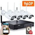Zosi 4ch 960 p hdmi nvr 4 pcs 1.3 mp ri ao ar livre à prova de intempéries P2P IP Sem Fio Da Câmera do CCTV Kit de Vigilância Sistema de Segurança 1 TB HDD