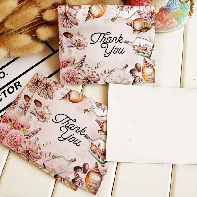 50 Stücke Danke Drift Flasche Stil Lassen Nachricht Karten Lucky Love  Valentinstag Weihnachten Party Einladung Brief
