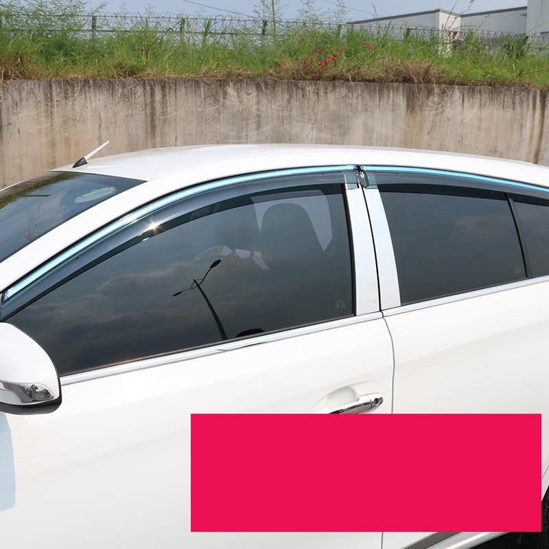 lsrtw2017 Acrylic car window rain shield for toyota vios yaris sedan 2013 2014 2015 2016 2017 2018 2019 xp150