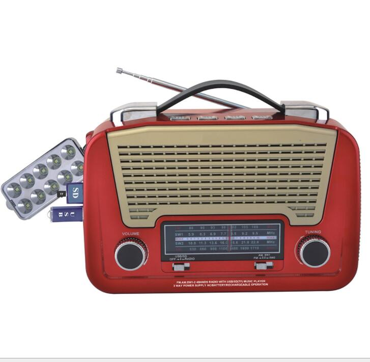 HEYF NEW AM/FM/SW 3Band World Radio SD/USB MP3 Player Led Torch Rechargeable & AA Battery tivdio v 116 fm mw sw dsp shortwave transistor radio receiver multiband mp3 player sleep timer alarm clock f9206a