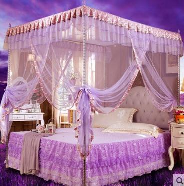byetee lujoso royal cama canopu con acero inoxidable piso de tres puertas mosquitera cama