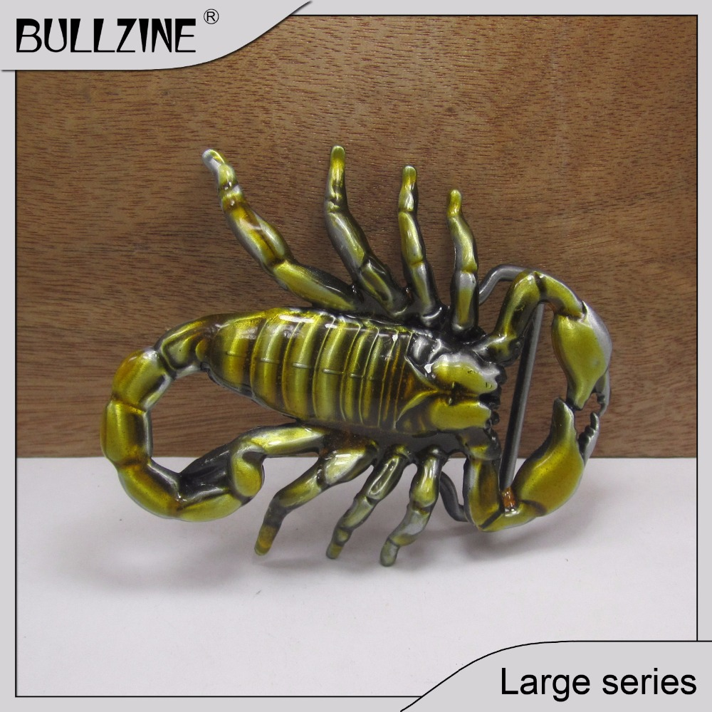 The Bullzine Fashion scorpion belt buckle with pewter finish FP-02615 suitable for 4cm width belt with continous stock