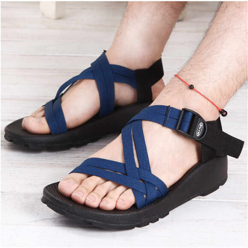 f1c647065136d7 ... IAXYUE  Han edition outdoor leisure men s men s platform sandals in the  summer beach shoes