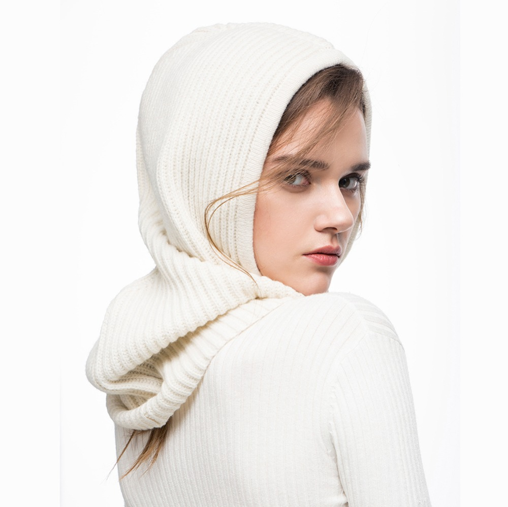Xthree Winter Wool Knitted Scarf Hat Set Beanie Women Scarf Skullies Beanies Hats For Women Men Caps Gorras Bonnet Mask 4
