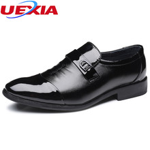UEXIA Leather Dress Shoes Men Wedding Business Shoes Lace-up Flat Shoe Mens Oxfords Fashion Business Male Sapato Social Casual