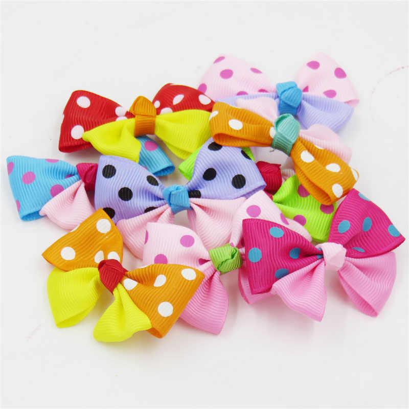 1 ชิ้นคลาสสิกสีผมวงยืดหยุ่นของเล่นสำหรับหญิง Handmade ริบบิ้น Bow Scrunchy เด็กคลิปผมอุปกรณ์เสริมสำหรับผู้หญิง