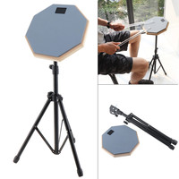 8 Inch Rubber Wooden Dumb Drum Practice Training Drum Pad Music Instruments with Stand