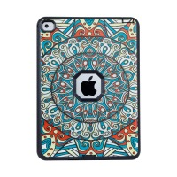 For IPad Air 2 Case Shockproof Mandala 3 In 1 Hybrid Armor PC Rubber Kid Cover