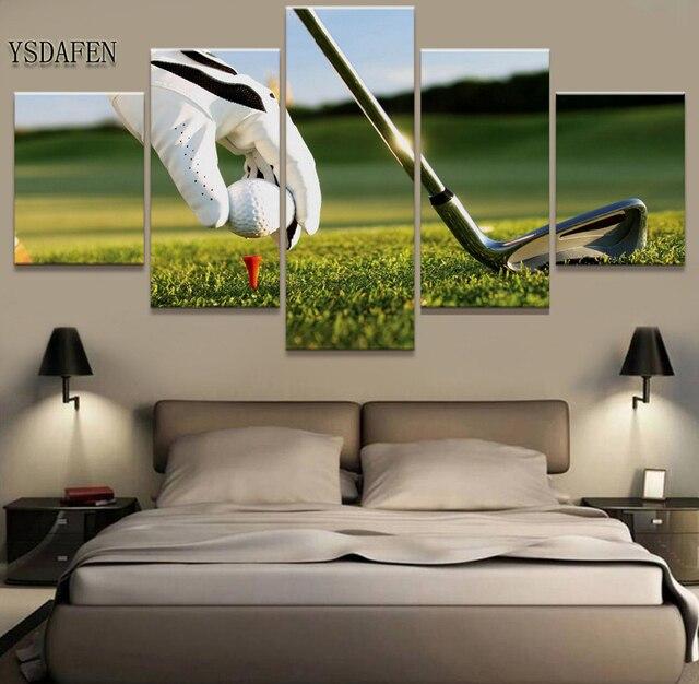 5 Stuk Muur Foto Voor Woonkamer Golf Sport Cuadros landschap Canvas ...