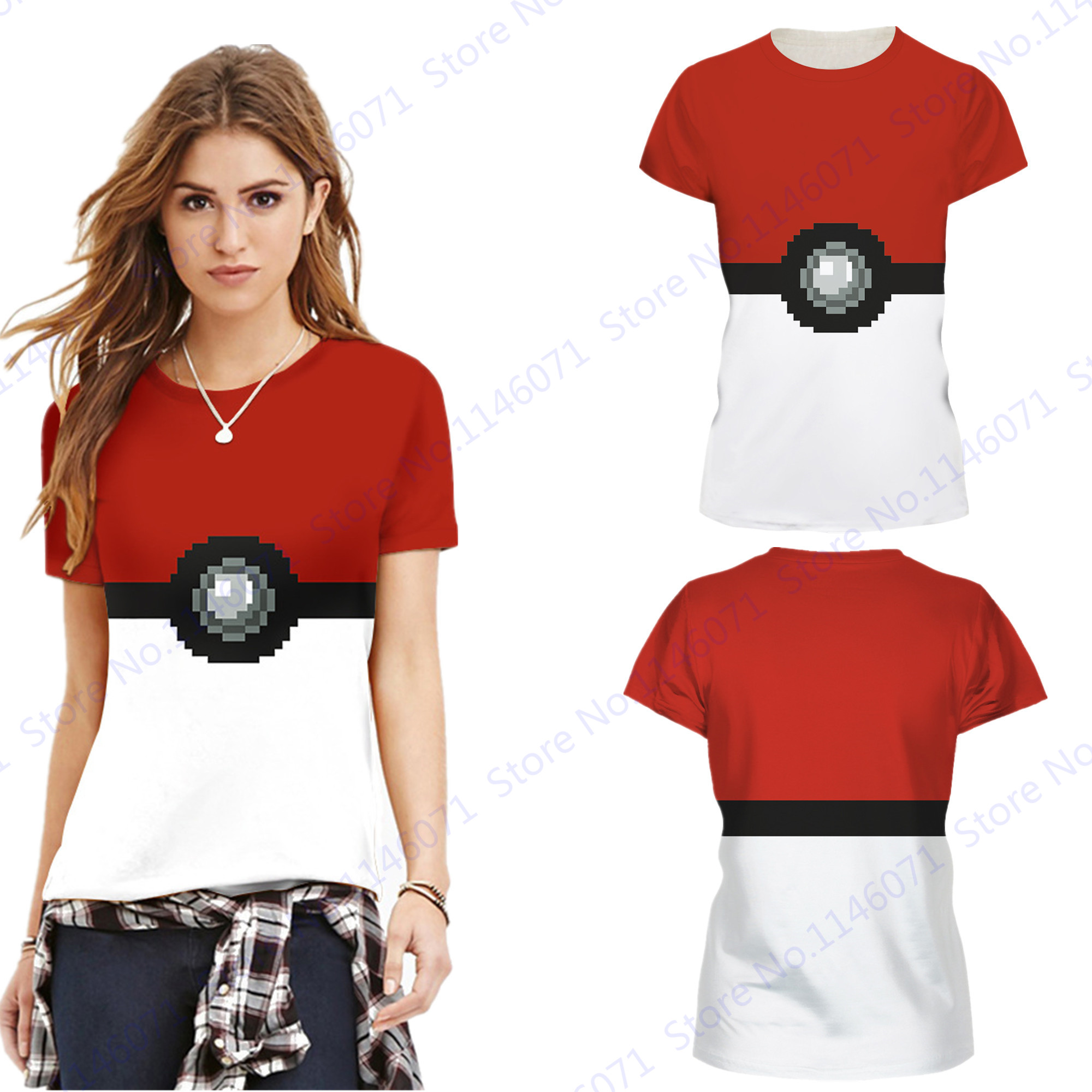 ca1e6a5db73 Detail Feedback Questions about Red White Pokemon Ball Fitness Sports T  Shirts Pokemon Go Gym Exercise Training Tees Shirt Summer Loose Fit Yoga  Tops ...