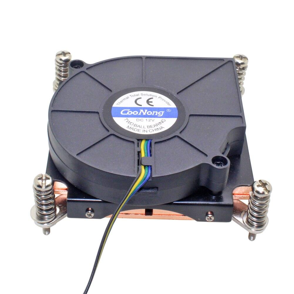 1U Server CPU Cooler Copper Heatsink Cooling Fan For Intel Xeon LGA 1366 1356 Industrial workstation Computer Active Cooling(China)
