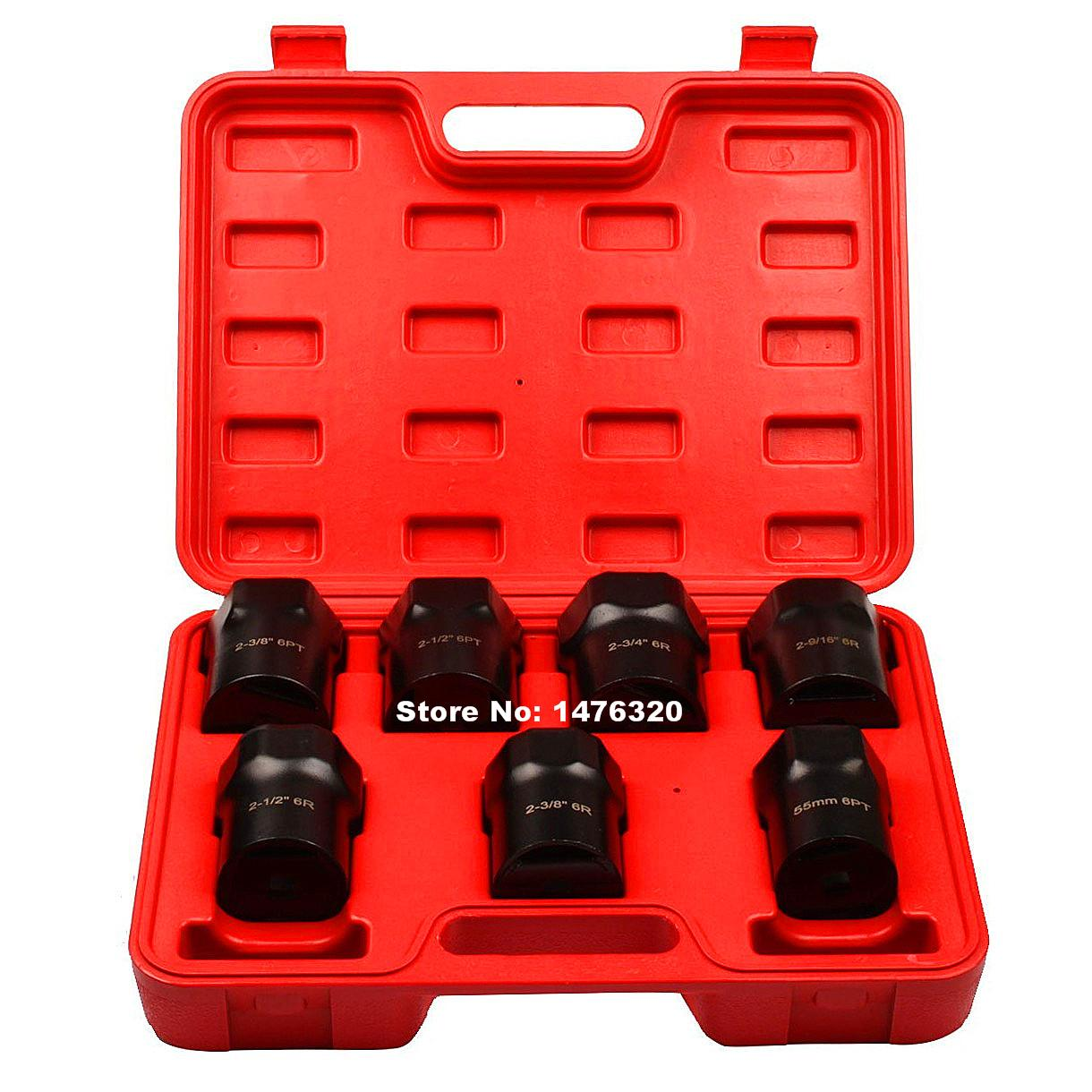 7PCS Automotive Wheel Bearing Locknut Socket Set AT2117 лонгслив спортивный under armour under armour un001ewxrq93