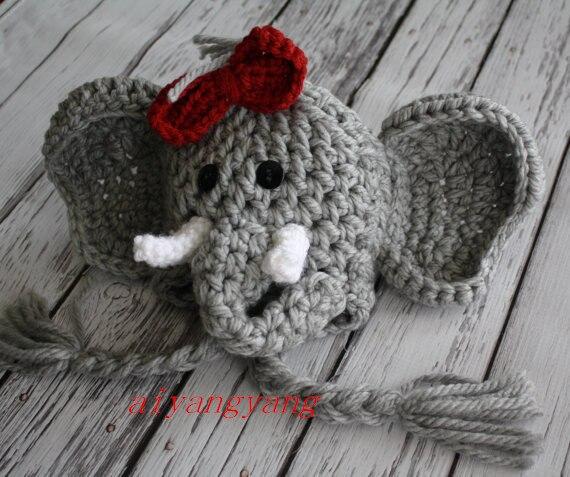 Free Shipping Aiyangyang Elephant Pattern Series 2 Crochet Knit