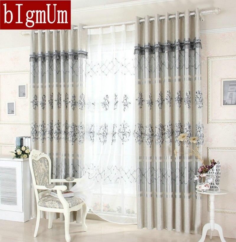 ᗔEn venta! europea Cortinas para sala patrón agradable lujo bordado ...