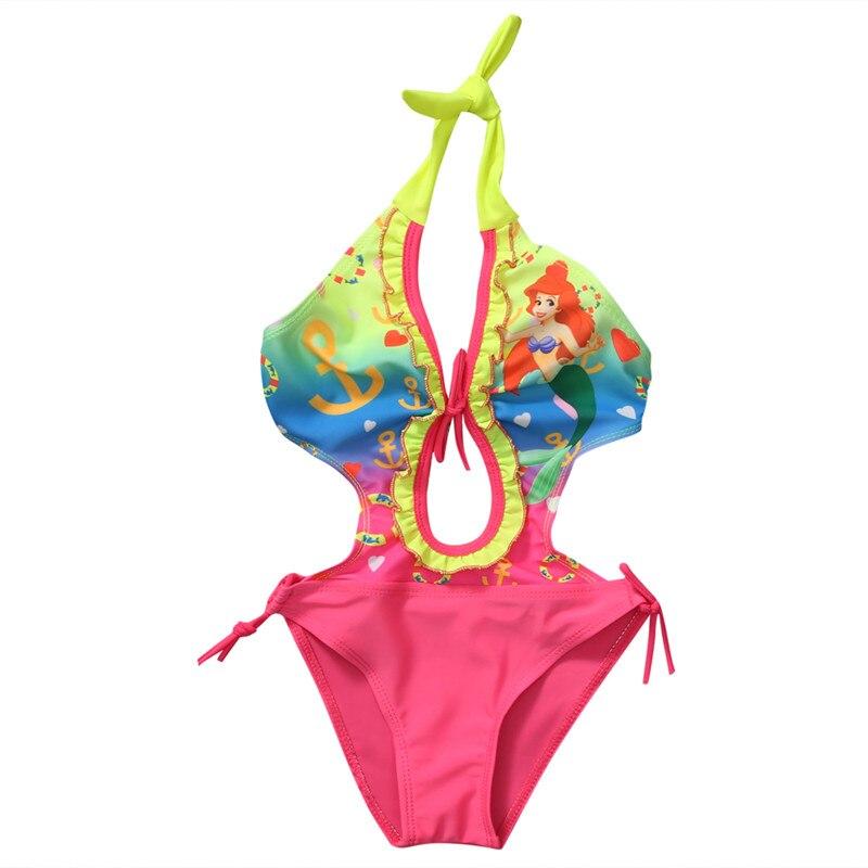 Girls Kids Swimwear The Little Mermaid Ariel Swimsuit Tankini 2-8Y Beachwear