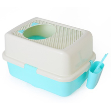 Pet Supplies Large Semi Enclosed Litter Box Cat  Products Detachable Bedpan Small Medium Accessories Dog Toilet 30SP031
