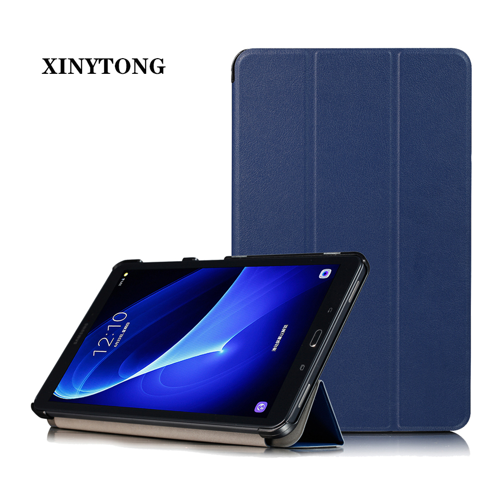 """Case for Samsung Galaxy Tab A 10.1 Magnetic PU Leather Folding Stand Cover for Samsung Tab A 10.1"""" SM-T580/SM-T585 Tablet Case"""