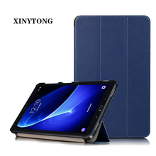 цена на Case for Samsung Galaxy Tab A 10.1 Magnetic PU Leather Folding Stand Cover for Samsung Tab A 10.1