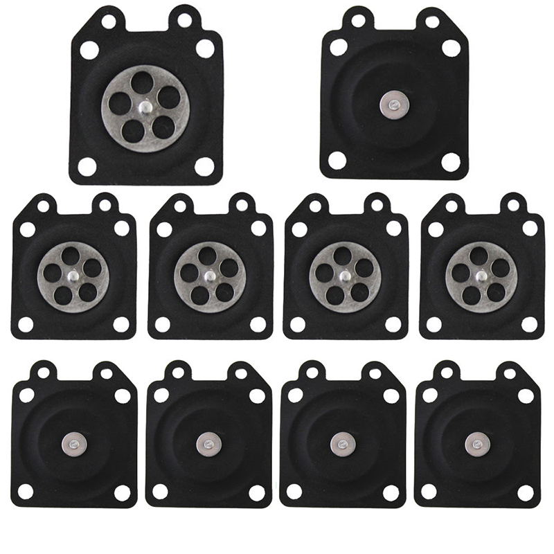 10pcs Carburetor Metering Diaphragm Assembly For Grass Cutter Replaces Chainsaw Repair Tool Parts Mayitr cheap cost 2bar 9l h 220v50hz 65w dfd 09 03 l solenoid diaphragm metering pump