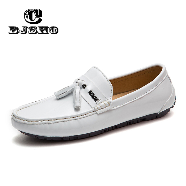 Heren Loafers Handmade Comfortable Moccasins Luxury Brand Leather Loafers Shoes Men Slip on Flats Patent Leather Driving Shoes lozoga 2018 men leather shoes handmade moccasins genuine cow leather men loafers design slip on comfortable peas shoes men flats