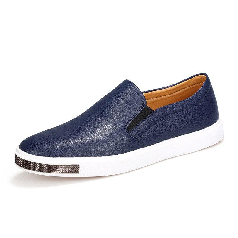 Le Pédale Casual Solide De Paresseux Hommes Britannique Top blue Chaussures Black Style Marée Respirant Cuir En D'été Fu Qualité Backcamel 5qpYOSx