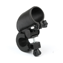 Bike Bicycle Accessories Cycling Flashlight Torch Mount LED Head Front Light Holder Clip Rubber for Diameter 25-28MM Black