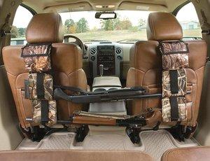 Image 1 - Portable Multi Function Camouflage Hunting Bag for Car Rear Seat Belt Gun Rack travel Hunt supplies Muti pockets shotgun sling