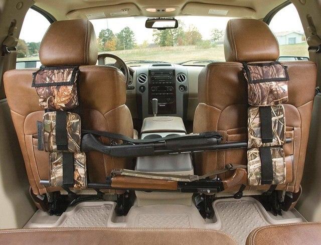 Portable Multi Function Camouflage Hunting Bag For Car Rear Seat Belt Gun Rack Travel Hunt