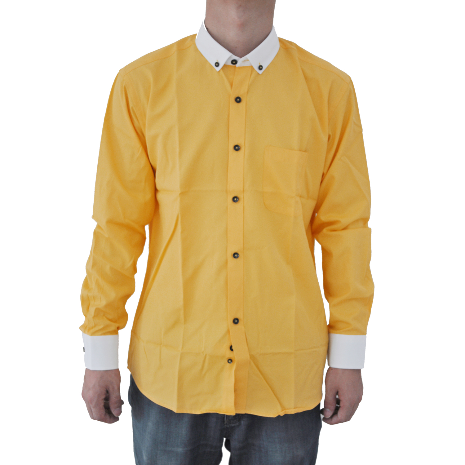 67638b115a98 2017 NEW Men Shirts Solid Color Long Sleeve Man Dress Shirt Cotton Slim  White Collar New Casual Social Shirt 8201#-in Dress Shirts from Men's  Clothing on ...