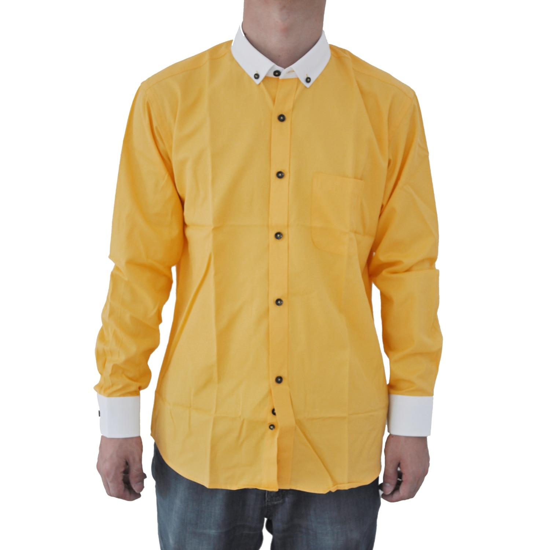 2017 New Men Shirts Solid Color Long Sleeve Man Dress Shirt Cotton