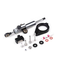 CNC Aluminum Adjustable Motorcycles Steering Stabilize Damper Bracket Mount Kit For BMW F800GS/F700GS/ADV F800 GS F700 GS
