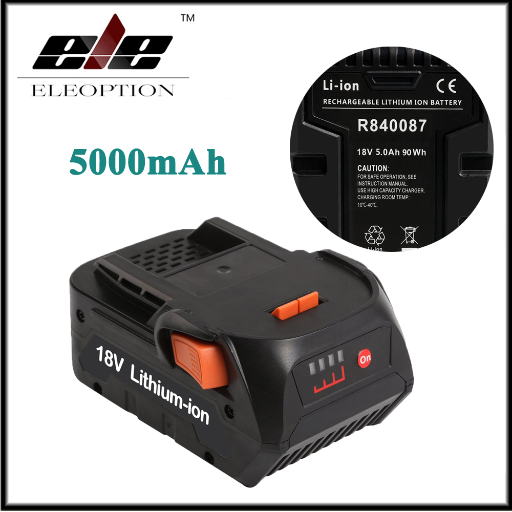 Eleoption 18V 5000mAh High Capacity Li-ion Replacement Battery For RIDGID R840083 CS0921 R84008 AC840084 L1830R