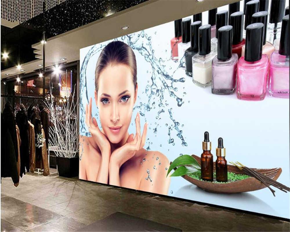 Beibehang Fashion Personality Decorative Wallpaper Beauty Salon Beauty Skin Care Tooling Background Papel De Parede 3d Wallpaper 3d Wallpaper Fashion Wallpaperwallpaper Fashion Aliexpress