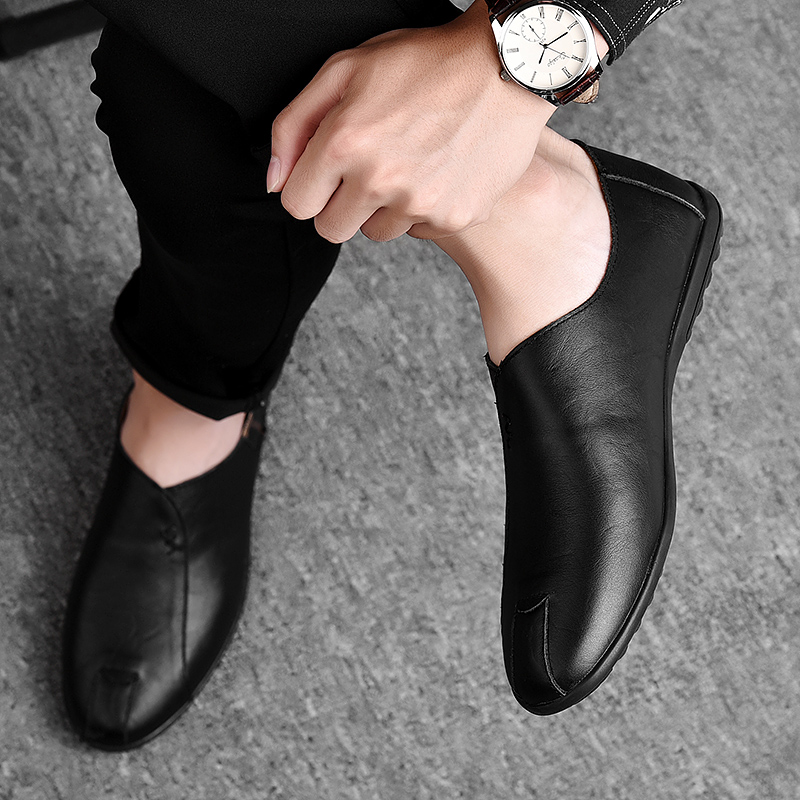 HTB1GwuUaELrK1Rjy0Fjq6zYXFXaX Leather Men Shoes Luxury Brand 2019 Italian Casual Mens Loafers Moccasins Breathable Slip on Black Driving Shoes Plus Size 38-47