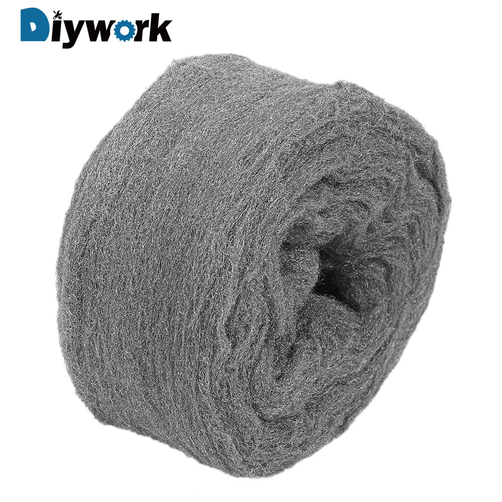 DIYWORK For Polishing Cleaning Non Crumble 0000# Steel Wire Wool Glass Cleaning 4.5m Dust Remover