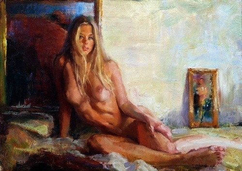 Nude women paintings, illustrated anal sex in showertures