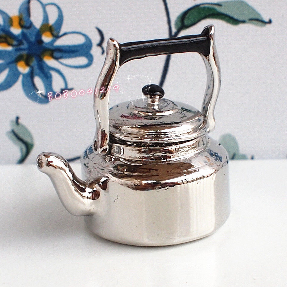 Dolls & Stuffed Toys Doll Houses Dollhouse Miniature 1:12 Toy Kitchen A Metal Silver Pot Length 2.5cm Dm80 Diversified In Packaging