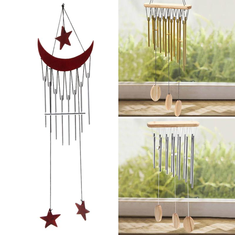 9 Tubes Windchime Chapel Hoods Windbell Door Hanging Home Decor Crafts Relax Feeling Hot
