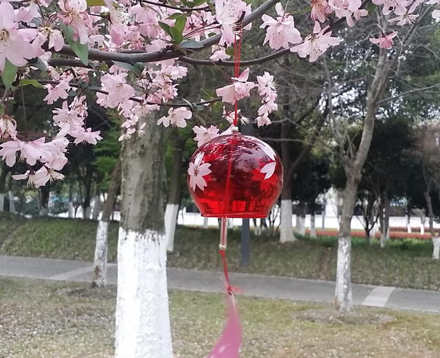 Red Glass Japan Furin,Blown Glass Wind Bell/hanging Windchime For  Wedding,home