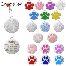 Personalized Dog Tag Custom Engraved Metal Collar For Small Medium Large Puppy Cat ID Name Pendant Pet Accessories