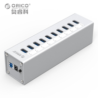 ORICO Supernova Sale A3H10 SV 10 Port USB 3 0 HUB Super Speed HUB Aluminum Alloy