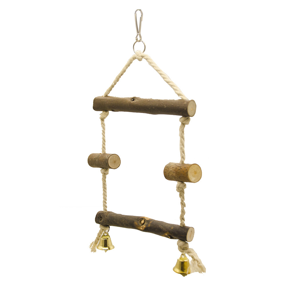Creative Natural Durable Handmade Nontoxic Natural Wood Swing Climbing Toy Hanging Toy Parrot Toy Bird Toys цена